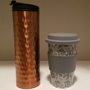 Coffee travel cups set of 2